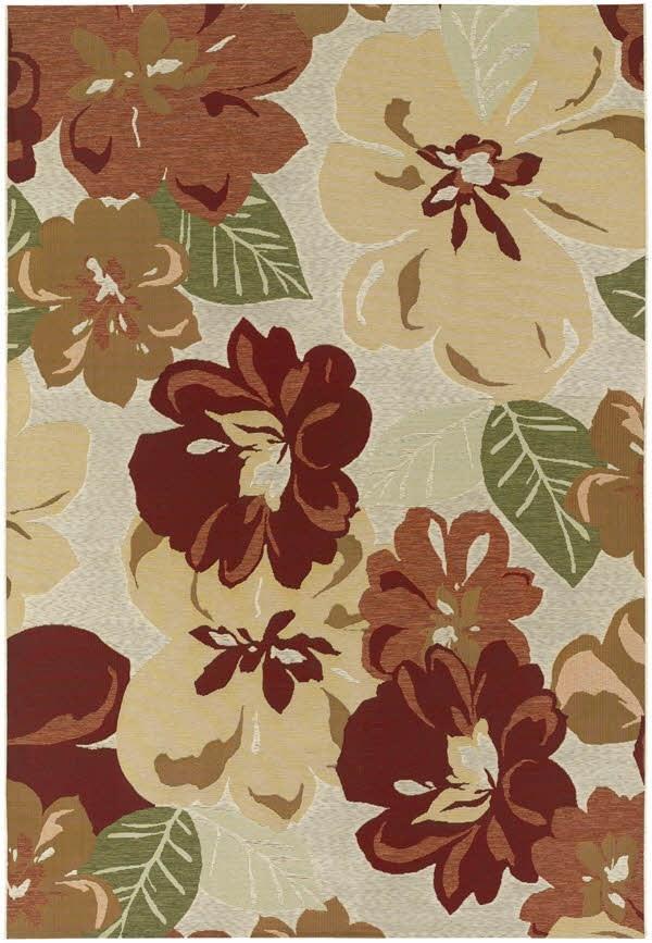 Rose Bud (4055-0632) Outdoor / Indoor Area Rug