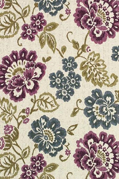 Ivory, Purple (4078-7439) Outdoor / Indoor Area Rug
