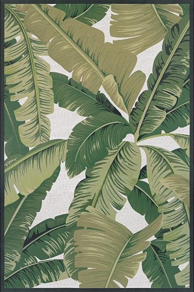 Hunter Green, Ivory (7506-0004) Outdoor / Indoor Area Rug