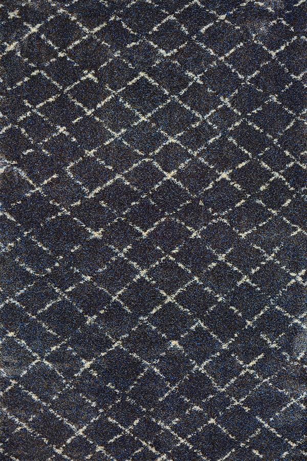 Navy, Grey (4331-7459) Moroccan Area Rug