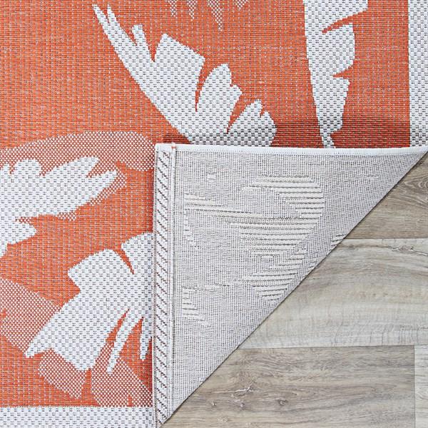 Ivory, Orange Outdoor / Indoor Area Rug