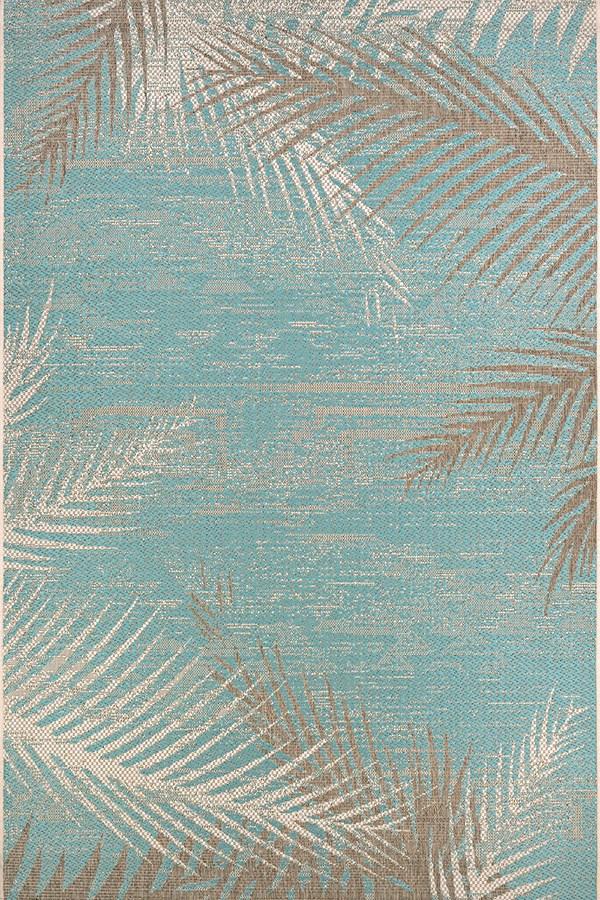 Aqua (2429-3134) Floral / Botanical Area Rug