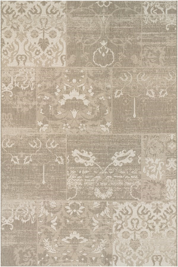 Beige, Ivory (5569-0609) Vintage / Overdyed Area Rug