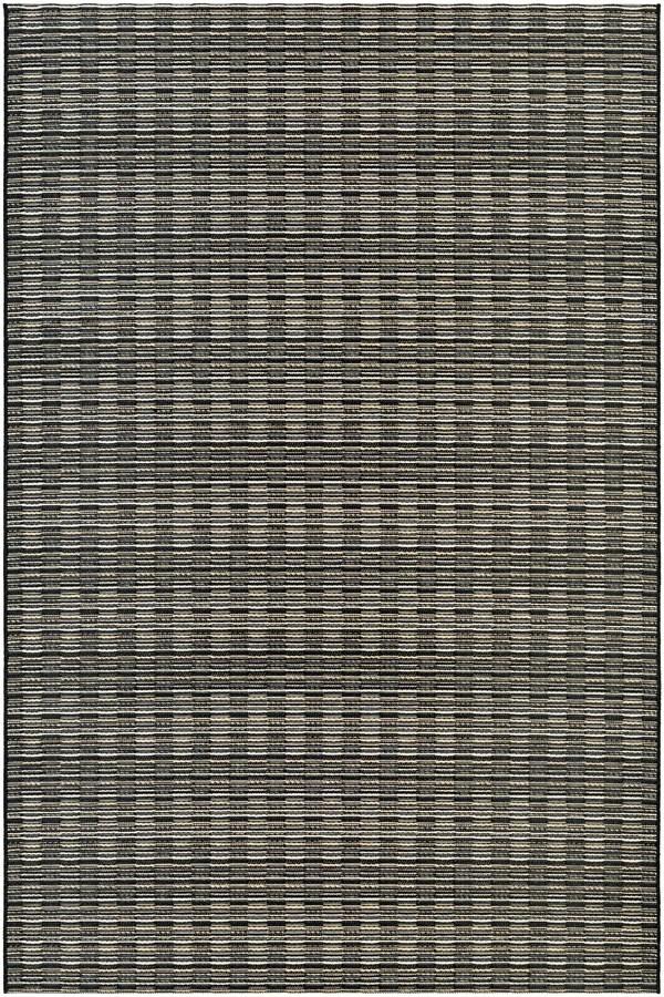 Black, Tan (9832-3959) Transitional Area Rug