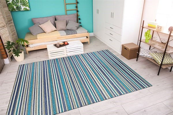 Cobalt, Teal (1403-0002) Outdoor / Indoor Area Rug