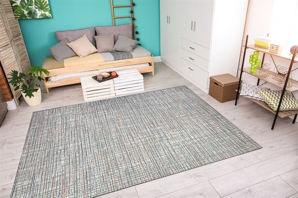 Ivory, Coral (1405-0011) Contemporary / Modern Area Rug