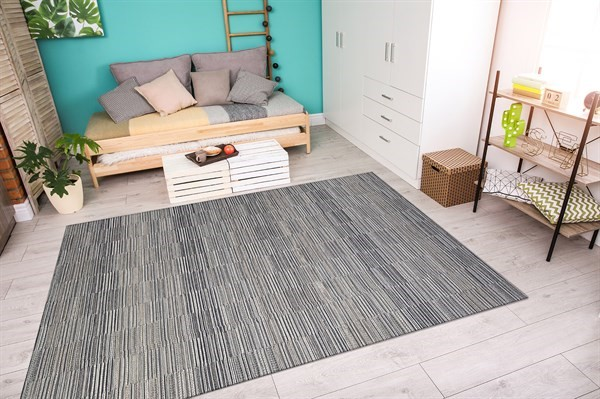 Silver, Charcoal (9860-9009) Transitional Area Rug