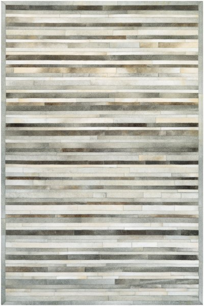 Grey, Ivory (0027-0101) Contemporary / Modern Area Rug