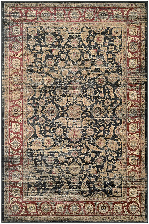 Black, Red, Oatmeal (1143-0330) Traditional / Oriental Area Rug