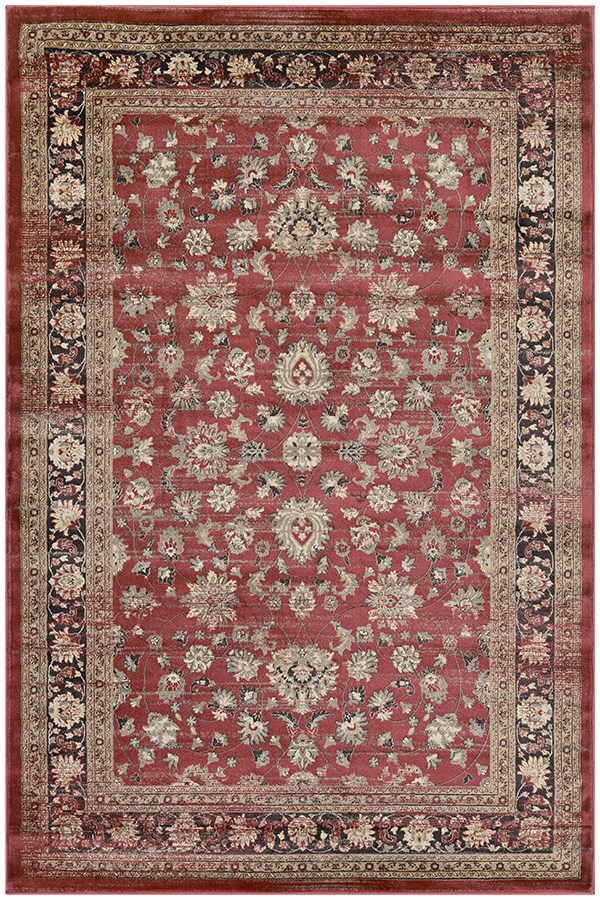 Red, Black, Oatmeal (1443-0280) Traditional / Oriental Area Rug