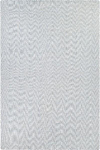 Blue, Ivory (4962-0733) Chevron Area Rug