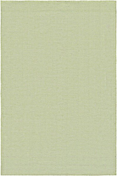 Green, Ivory (4962-0731) Chevron Area Rug