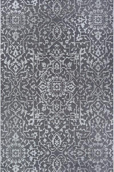 Black, Grey, Ivory (2329-3108) Outdoor / Indoor Area Rug