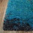 Product Image of Blue, Aqua, Grey, Black Shag Area Rug