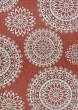 Product Image of Orange, Ivory, Grey Outdoor / Indoor Area Rug