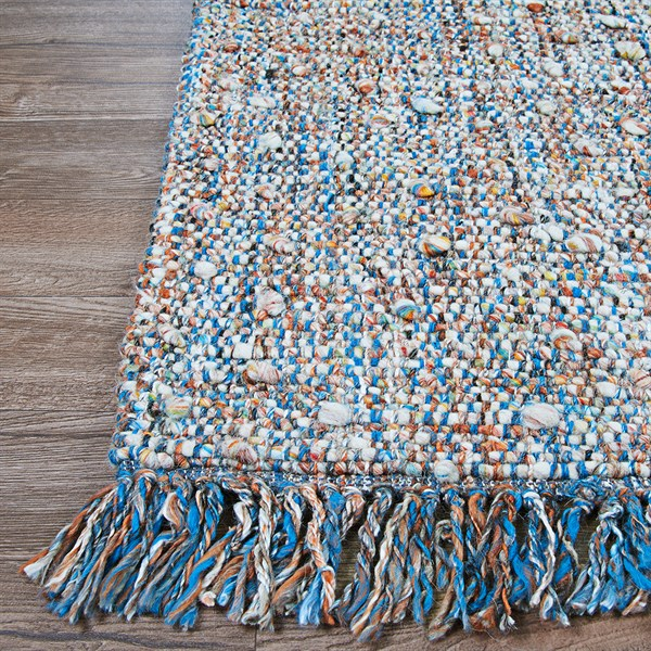 Brown, Ivory, Blue (2363-3080) Casual Area Rug