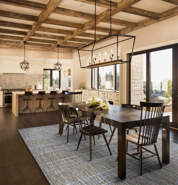 Sand, Ivory, Indigo Outdoor / Indoor Area Rug