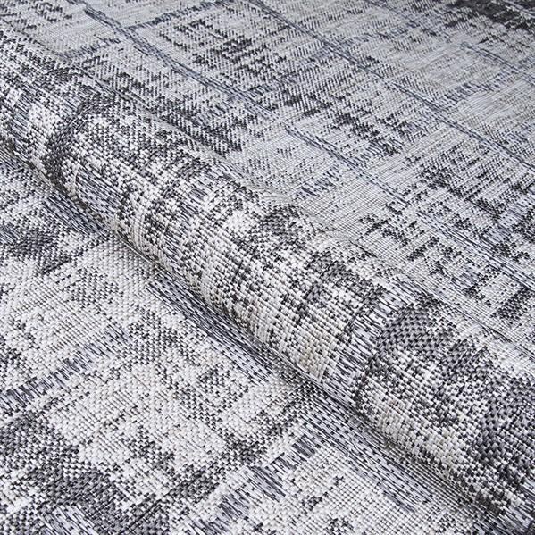 Light Grey, Charcoal Outdoor / Indoor Area Rug