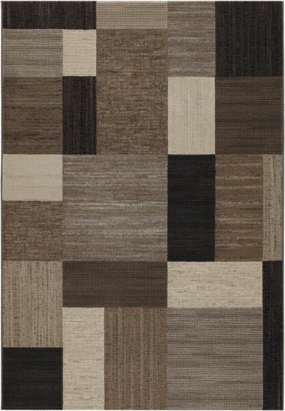 Brown, Bark, Black (6303-4343) Transitional Area Rug