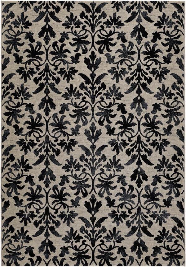 Grey, Black (6316-6333) Damask Area Rug