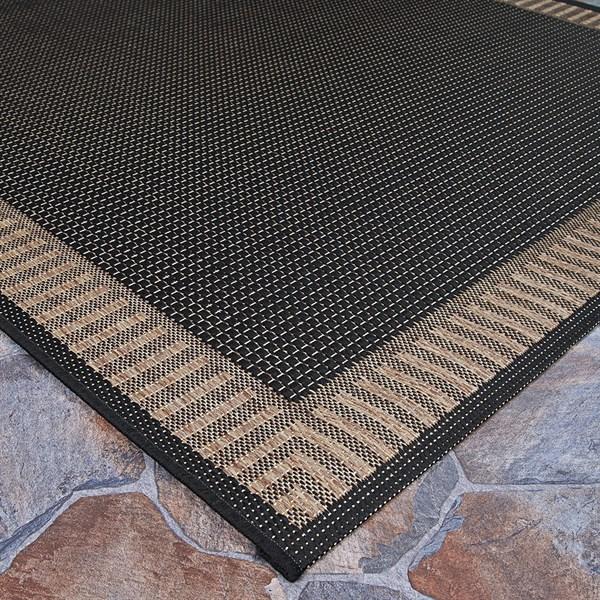 Black, Cocoa (1681-2000) Bordered Area Rug