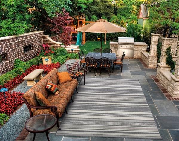 Champagne, Grey (5313-3312) Outdoor / Indoor Area Rug