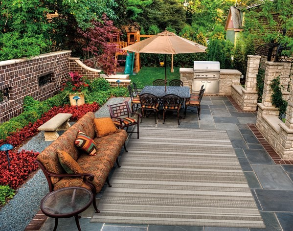 Champagne, Taupe (5313-2312) Outdoor / Indoor Area Rug