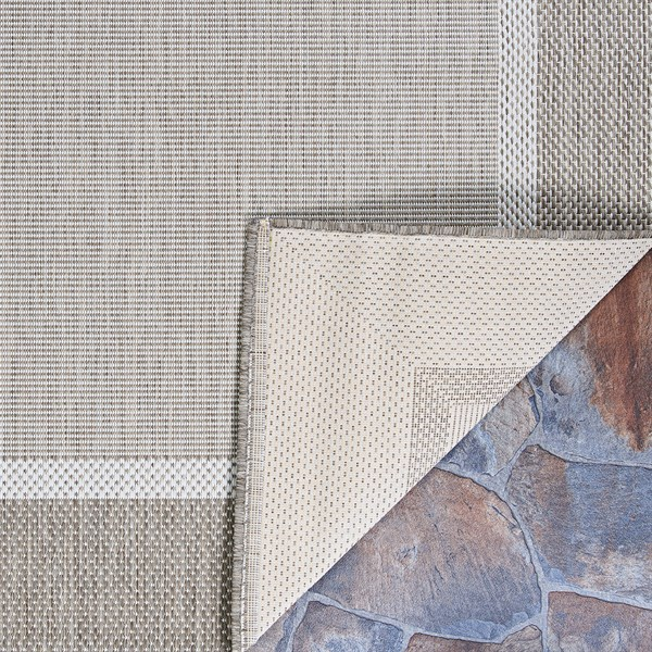 Taupe, Champagne (5526-2312) Outdoor / Indoor Area Rug