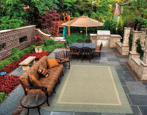 Green, Natural (5526-1812) Outdoor / Indoor Area Rug