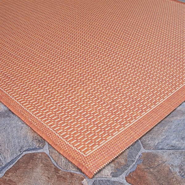Terra Cotta, Natural (1001-4000) Outdoor / Indoor Area Rug