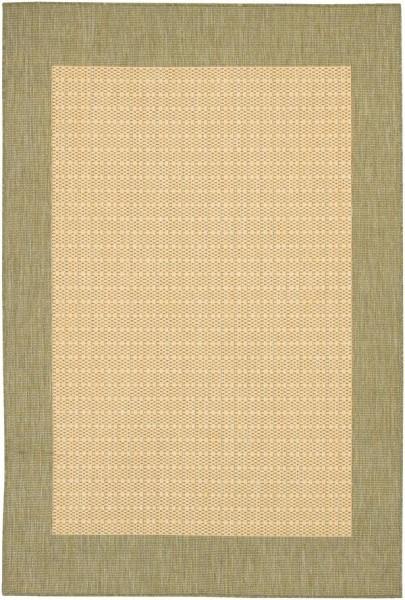 Natural, Green (1005-5005) Outdoor / Indoor Area Rug