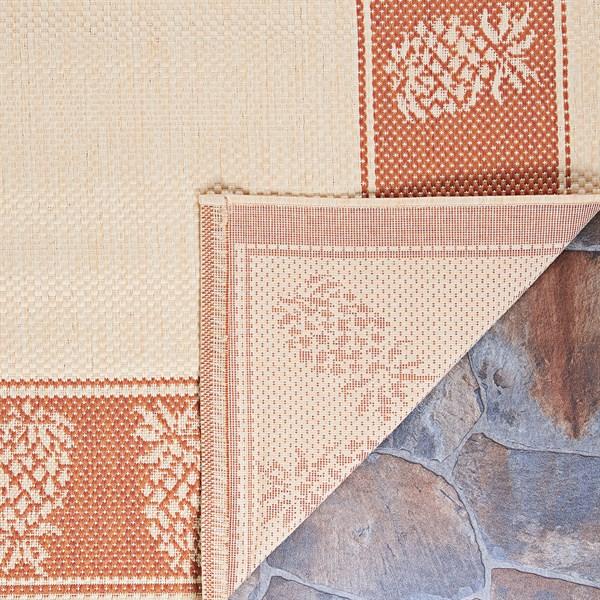 Natural, Terra Cotta (1177-1112) Outdoor / Indoor Area Rug