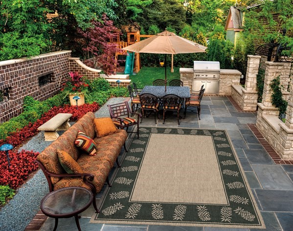 Cocoa, Black (1177-2500) Outdoor / Indoor Area Rug