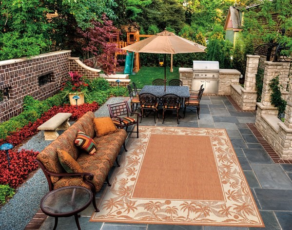 Terra Cotta, Natural (1222-1122) Outdoor / Indoor Area Rug