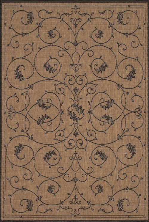 Cocoa, Black (1583-2500) Traditional / Oriental Area Rug