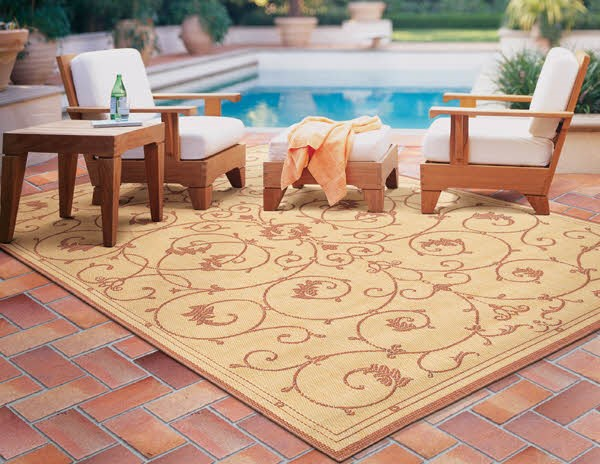 Natural, Terra-Cotta (1583-1112) Traditional / Oriental Area Rug