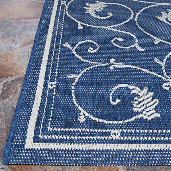 Indigo, Ivory (1583-6500) Traditional / Oriental Area Rug