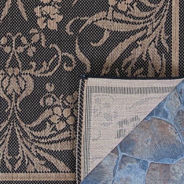 Black, Cocoa (1516-0111) Outdoor / Indoor Area Rug