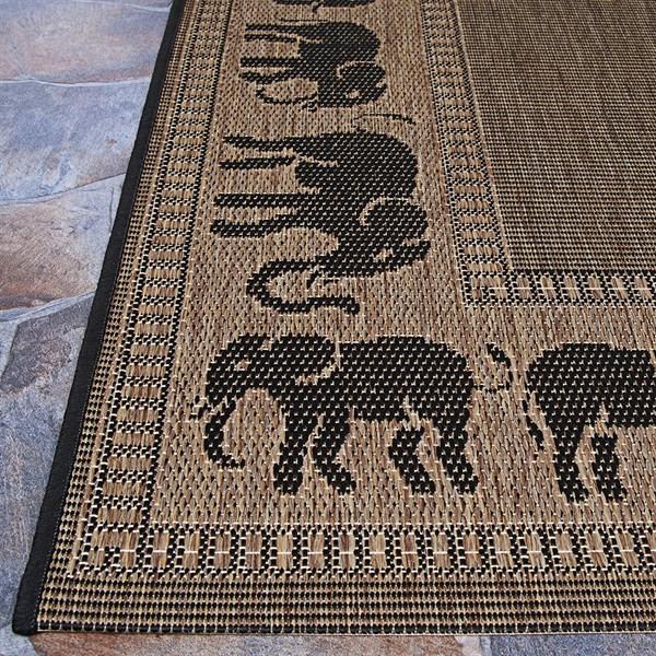 Cocoa, Black (1588-1021) Southwestern / Lodge Area Rug