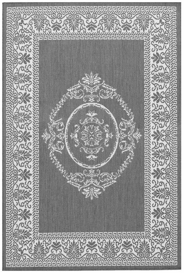 Grey, White (1078-3012) Traditional / Oriental Area Rug