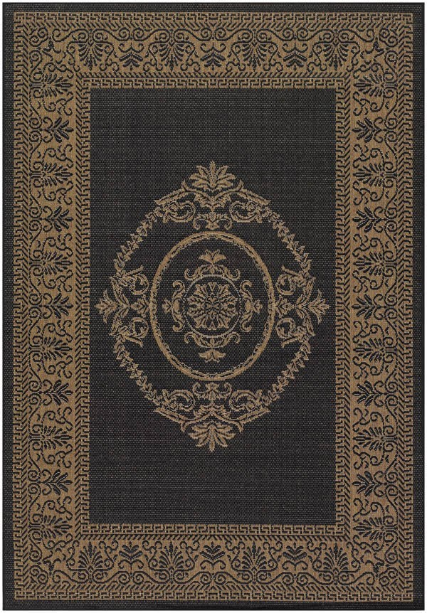 Black, Cocoa (1078-3115) Traditional / Oriental Area Rug