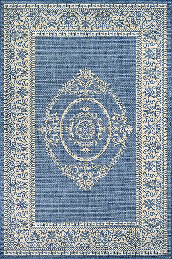 Champagne, Blue (1078-1212) Traditional / Oriental Area Rug