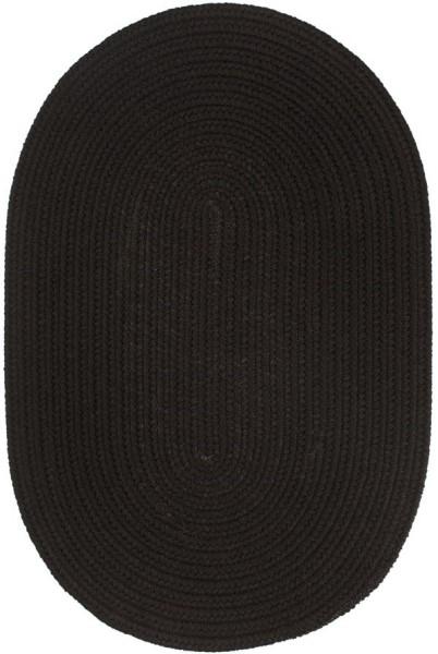 Black (T-016) Outdoor / Indoor Area Rug
