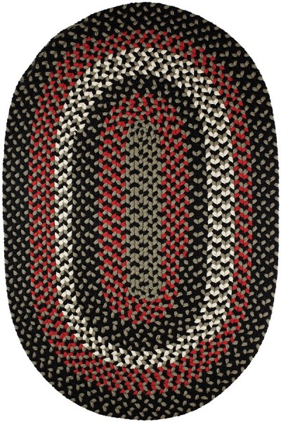 Black Satin (MA-86) Outdoor / Indoor Area Rug