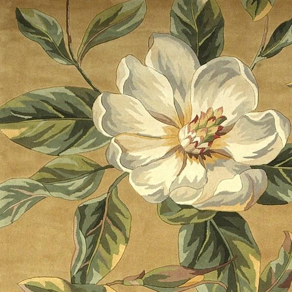 Gold (762) Floral / Botanical Area Rug