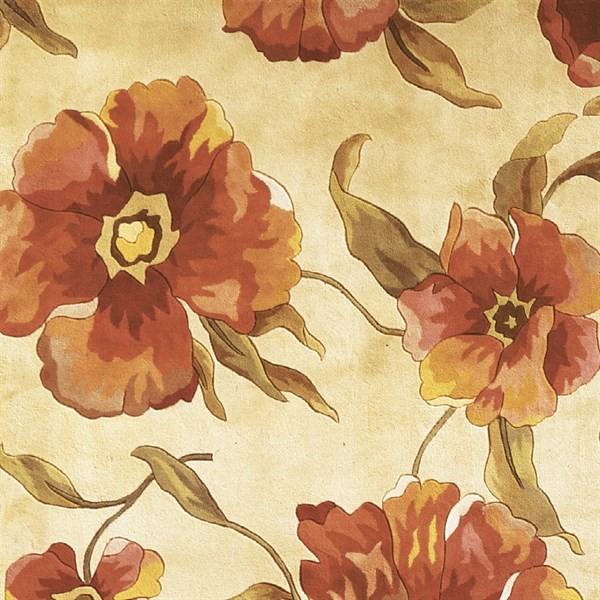 Ivory (766) Floral / Botanical Area Rug