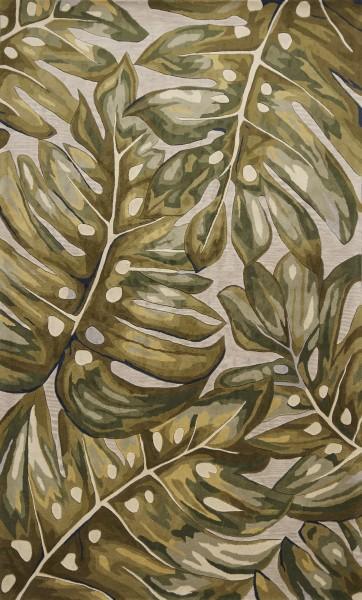 Green (750) Floral / Botanical Area Rug