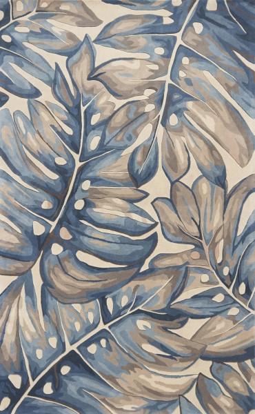 Blue (751) Floral / Botanical Area Rug