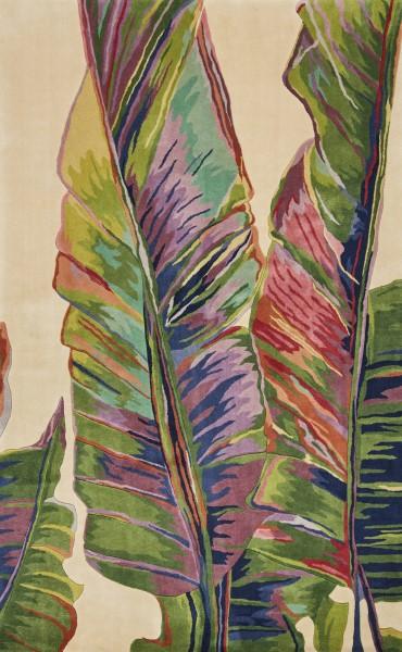Ivory, Green (0779) Floral / Botanical Area Rug