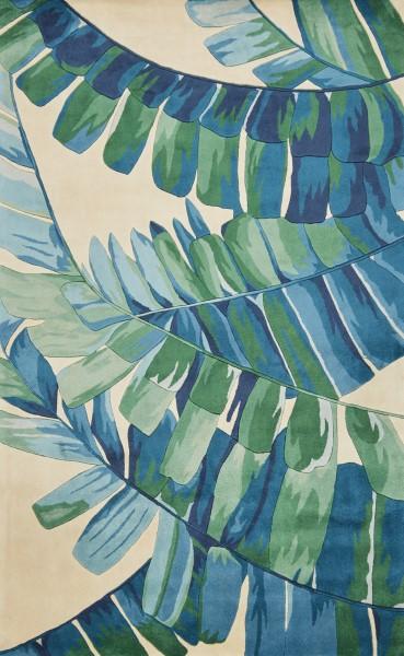 Ivory, Blue (0784) Floral / Botanical Area Rug